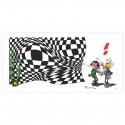Pigment print LPR Editions Gaston Lagaffe Vasarely (50x100cm)