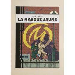 Poster affiche offset Blake et Mortimer, La Marque Jaune (50x70cm)
