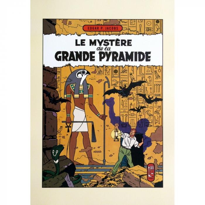 Poster affiche Blake et Mortimer, Le Mystère de la Grande Pyramide (50x70cm)