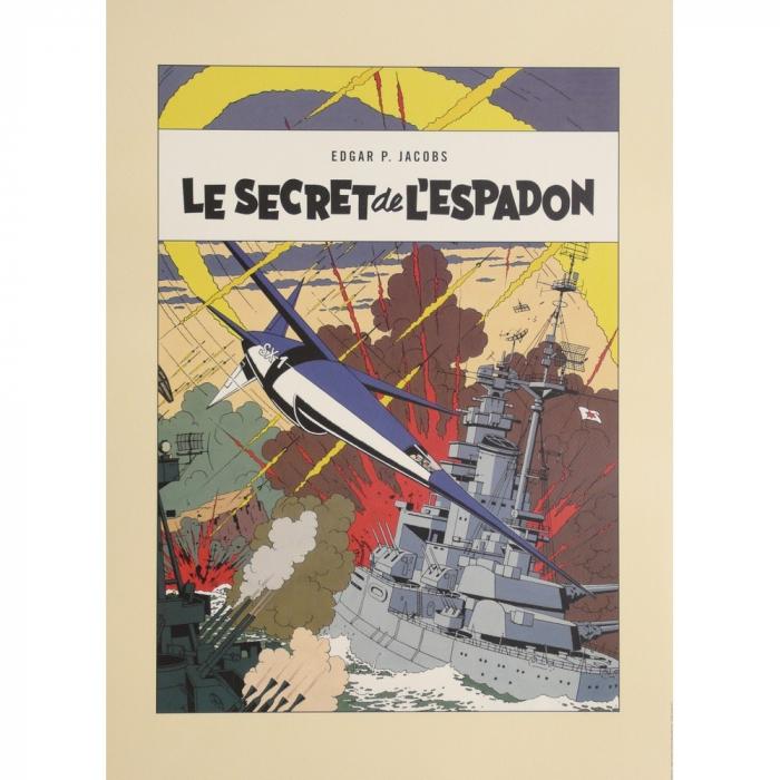 Poster offset Blake and Mortimer, Le Secret de l'Espadon (50x70cm)