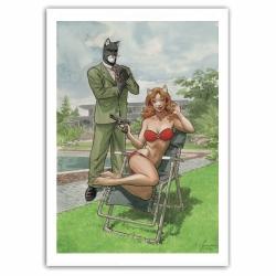 Poster affiche offset Blacksad Juanjo Guarnido, Bodyguard (50x70cm)
