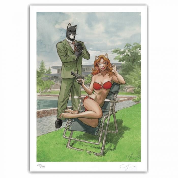 Poster offset Blacksad Juanjo Guarnido, Bodyguard signed (50x70cm)