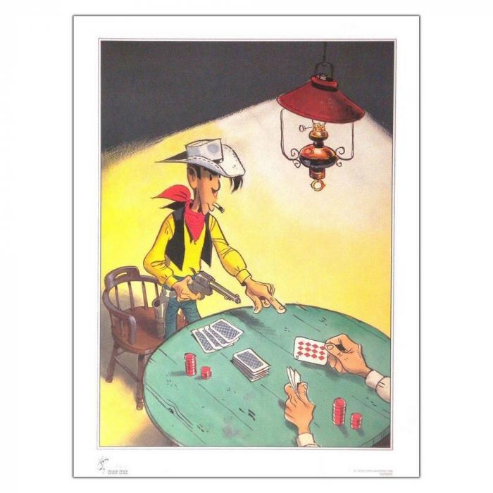 Póster cartel offset Equinoxe Lucky Luke Poker (60x80cm)