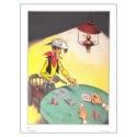 Poster affiche offset Equinoxe Lucky Luke Poker (60x80cm)
