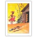 Póster cartel offset Equinoxe Lucky Luke Mousetrap (60x80cm)