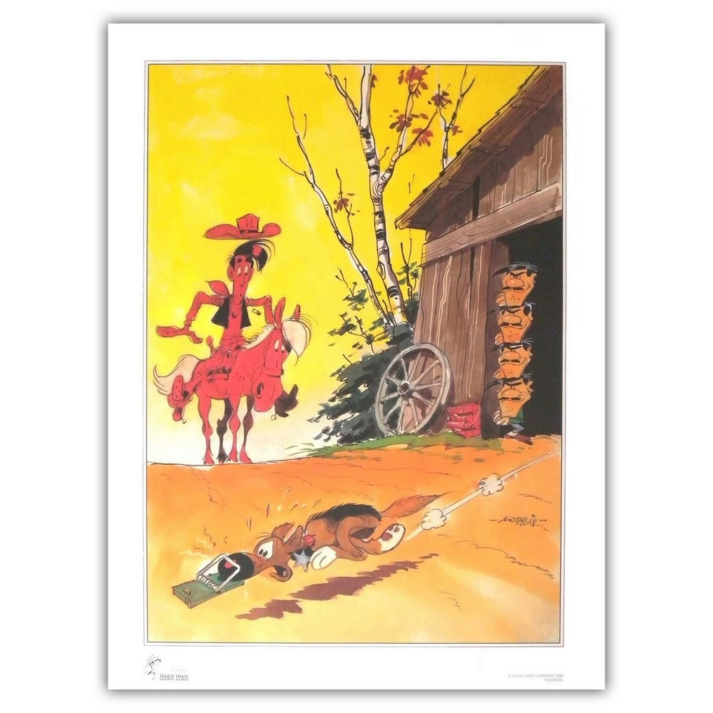 poster affiche offset equinoxe lucky luke mousetrap. Black Bedroom Furniture Sets. Home Design Ideas