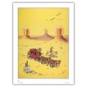 Poster affiche offset Equinoxe Lucky Luke Mirage (60x80cm)