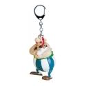 Porte-clés figurine Plastoy Astérix Obélix avec Idéfix 60402 (2015)