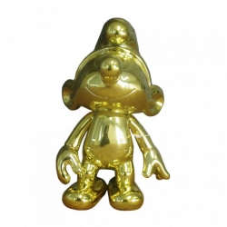 Collectible Figure Puppy The Smurfs: The articulated Gold Smurf (2017)