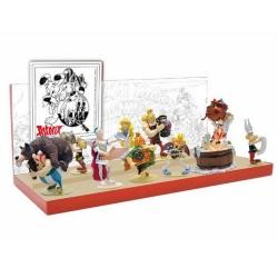 Set 10 figurines collection Pixi Astérix et Obélix Origine + Présentoir (2018)