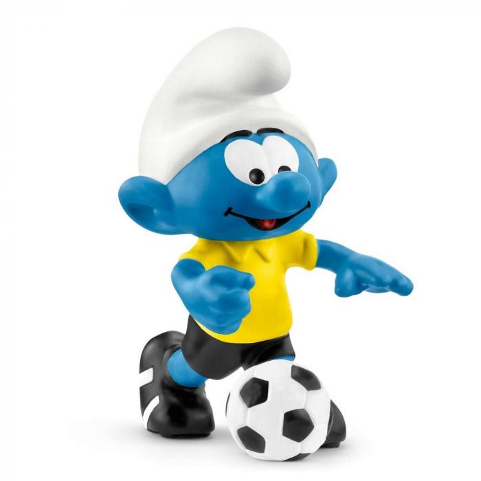 Figura Schleich® Los Pitufos - Pitufo futbolista con pelota (20806)