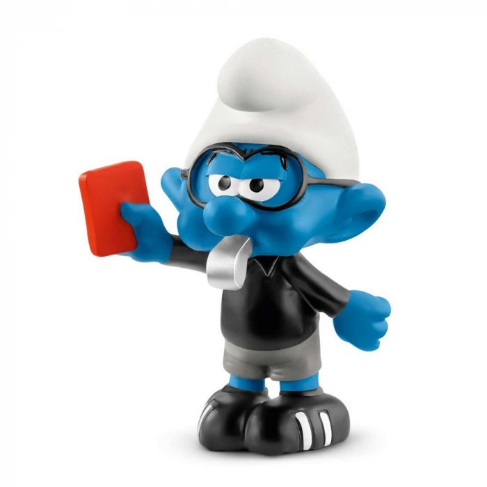 The Smurfs Schleich® Figure - Football Smurf referee (20809)