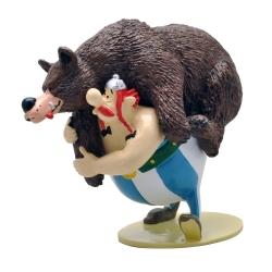 Figurine de collection Pixi Astérix Obélix portant l'ours grizzly 2343 (2018)