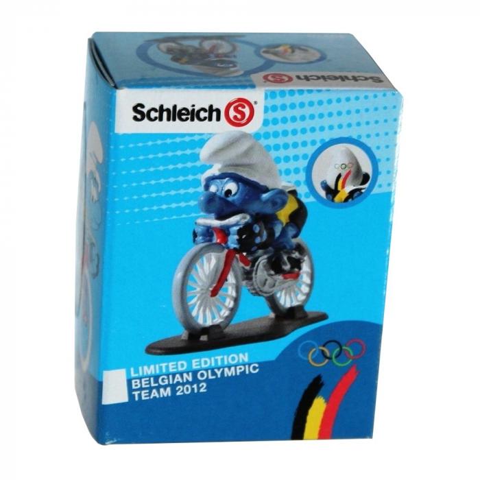 Figura Schleich® El Pitufo ciclista Equipo Olímpico Belga 2012 (40270)