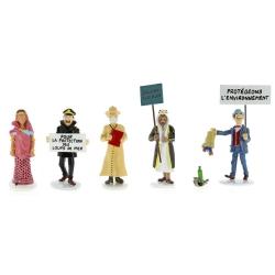 Set de figuras de Tintín Moulinsart Serie 7 Carte de voeux 1972 (2018)