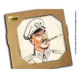 Collectible marble sign Blake and Mortimer Olrik (20x20cm)