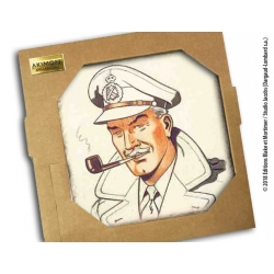 Collectible marble sign Blake and Mortimer Sir Francis Percy Blake (20x20cm)
