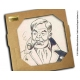 Collectible marble sign Blake and Mortimer Philip-Edgar-Angus Mortimer (20x20cm)