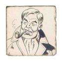 Placa de mármol colección Blake y Mortimer Philip-Edgar-Angus Mortimer (20x20cm)