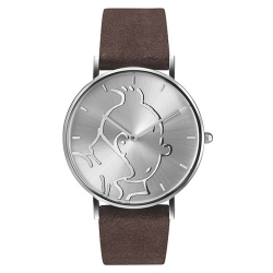 Reloj de cuero Moulinsart Ice-Watch Tintín en acción Classic S 82440 (2018)