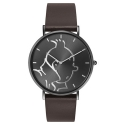 Reloj de cuero Moulinsart Ice-Watch Tintín en acción Classic M 82441 (2018)
