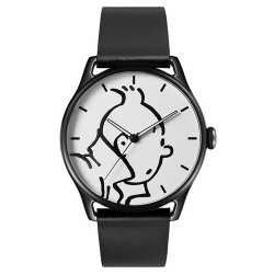 Montre en cuir Moulinsart Ice-Watch Tintin en action Classic M 82439 (2018)