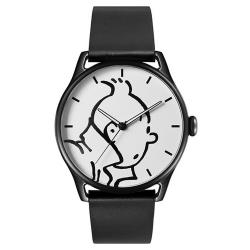 Reloj de cuero Moulinsart Ice-Watch Tintín en acción Classic L 82439 (2018)