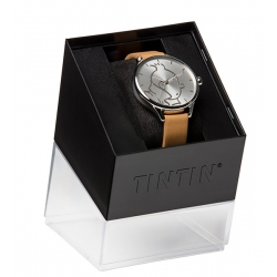 Reloj de cuero Moulinsart Ice-Watch Tintín en acción Classic M 82438 (2018)