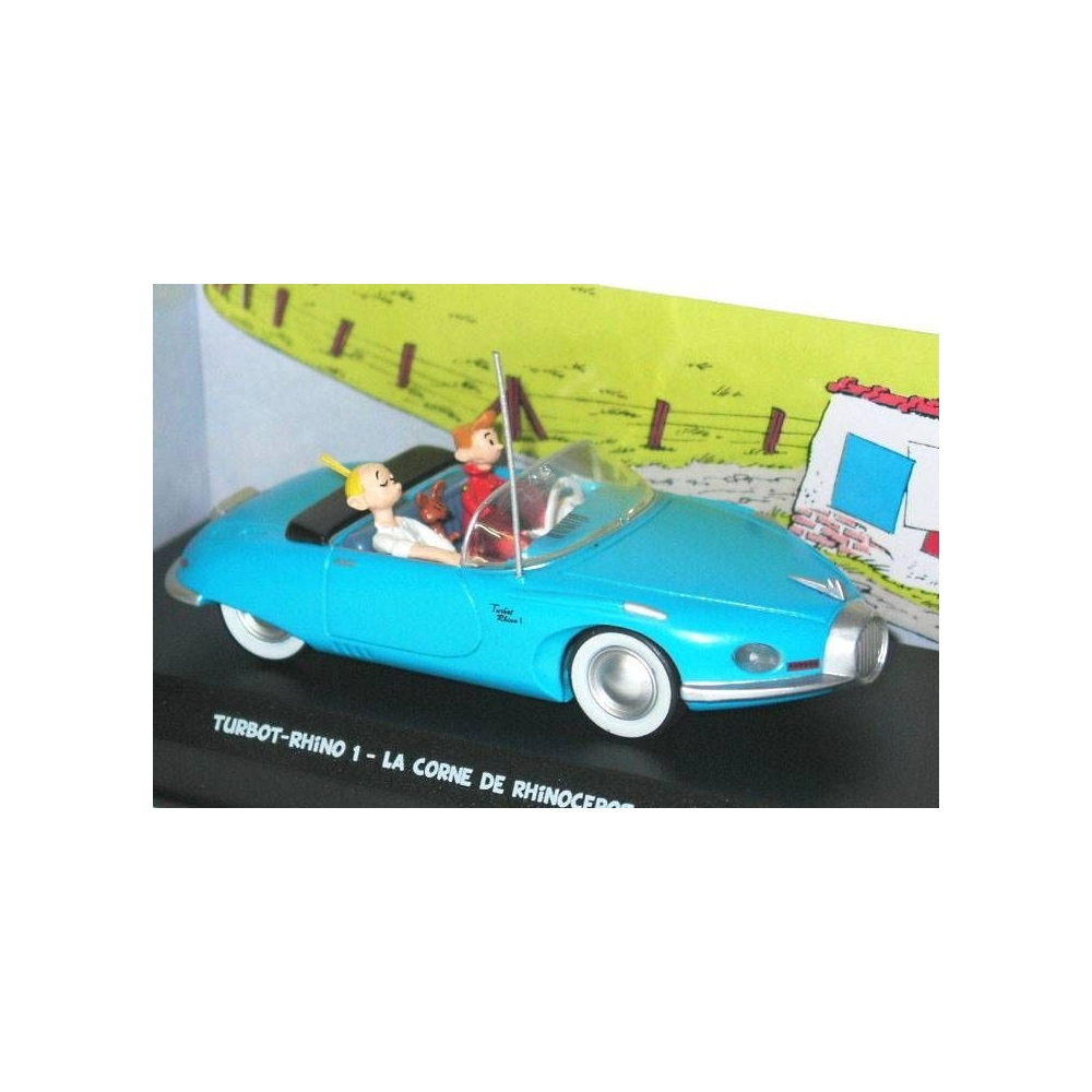 Collectible Atlas Blue Car Turbot-Rhino 1 Spirou and