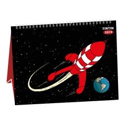 Calendrier de bureau 2019 Tintin Aventure sur la Lune 15x21cm (24400)
