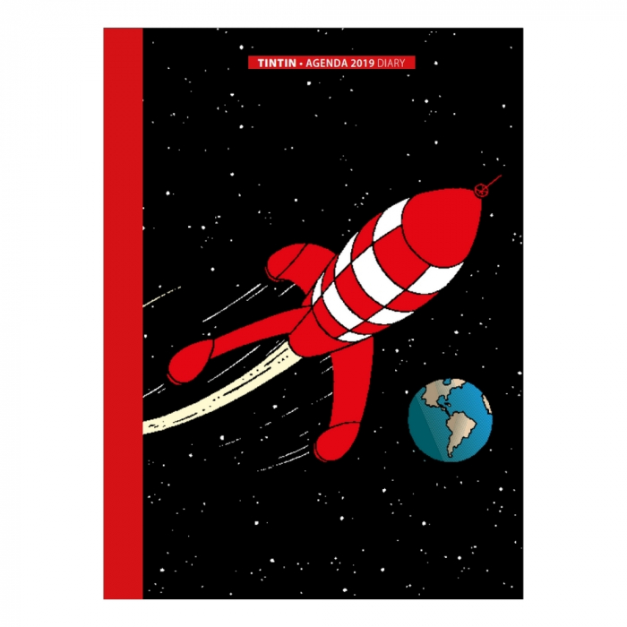 Agenda de poche 2019 Tintin Aventure sur la Lune 9x16cm (24399)