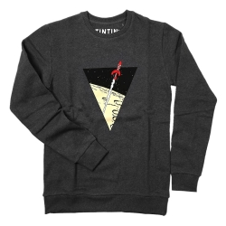 Sweatshirt The Adventures of Tintin: The lunar rocket - Dark Grey (2017)