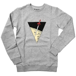 Sweatshirt The Adventures of Tintin: The lunar rocket - Light Grey (2017)