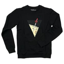 Sweat-shirt Les Aventures de Tintin: La fusée lunaire - Noir (2017)