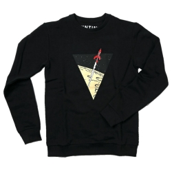 Sweatshirt The Adventures of Tintin: The lunar rocket - Black (2017)