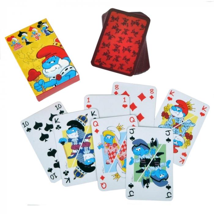 Juego de 54 cartas de baraja Puppy Los Pitufos (755212)