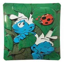 Comics enamel sign Coustoon The Smurfs and the ladybug (2013)