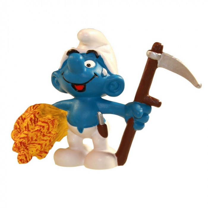 The Smurfs Schleich® Figure - The Farmer Smurf with skythe (21010)