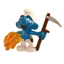 The Smurfs Schleich® Figure - The Farmer Smurf with skythe 1981 (21010)