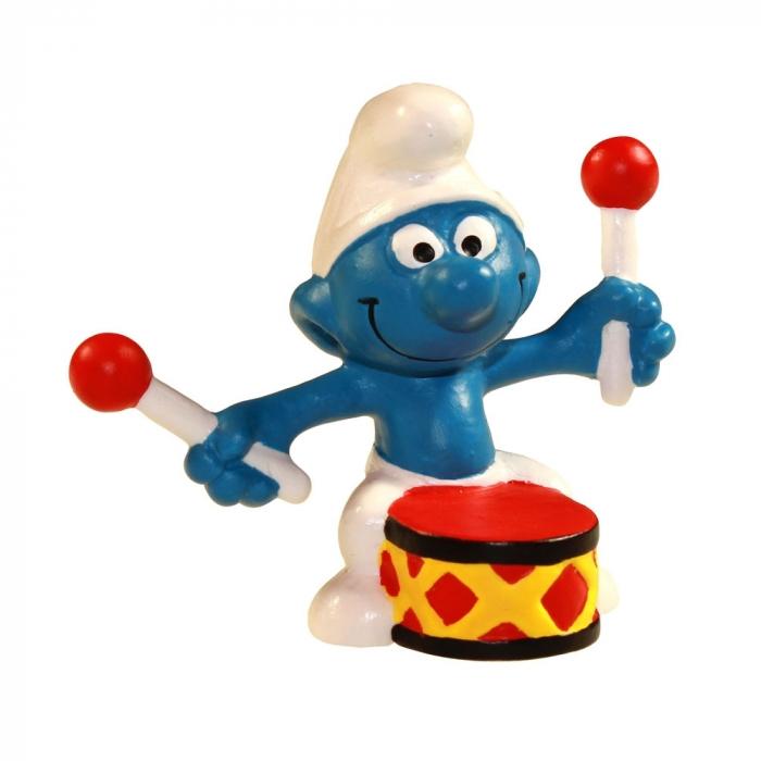 Figura Schleich® Los Pitufos - El Pitufo baterista (21004)