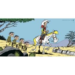 Poster affiche offset Lucky Luke et les quatre frères Dalton, Achdé (100x50cm)