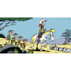 Poster offset Lucky Luke with The Dalton, Achdé (100x50cm)