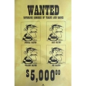 Poster offset Lucky Luke with The Dalton Wanted, Achdé (40x60cm)
