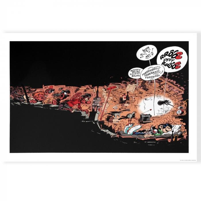 Póster cartel offset Tomás el Gafe Los archivos, Franquin (70x50cm)