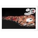 Póster cartel offset Tomás el Gafe sieste en los archivos, Franquin (70x50cm)