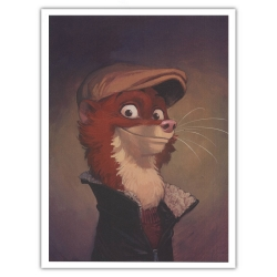 Póster cartel offset Blacksad Juanjo Guarnido, Retrato de Weekly (30x40cm)