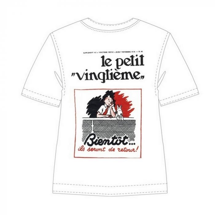 Camiseta 100% algodón Tintín Le Petit Vingtième Bientôt 722002 (2013)