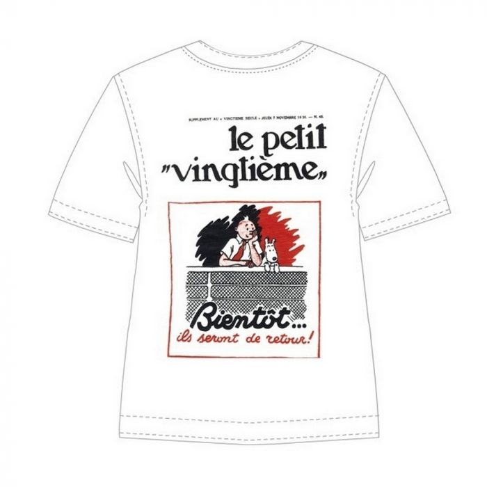 T-shirt 100% cotton Tintin Le Petit Vingtième Bientôt 722002 (2013)