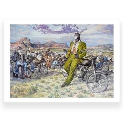 Póster cartel offset Blacksad Juanjo Guarnido, Amarillo's Road (80x60cm)