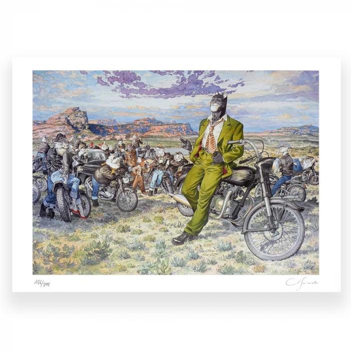 Poster offset Blacksad Juanjo Guarnido, Amarillo's Road signed (80x60cm)